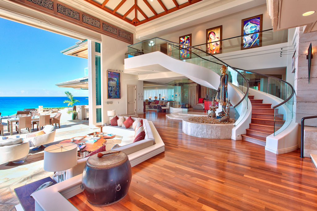 Luxury beachfront estate in maui idesignarch interior for Oceanfront house plans