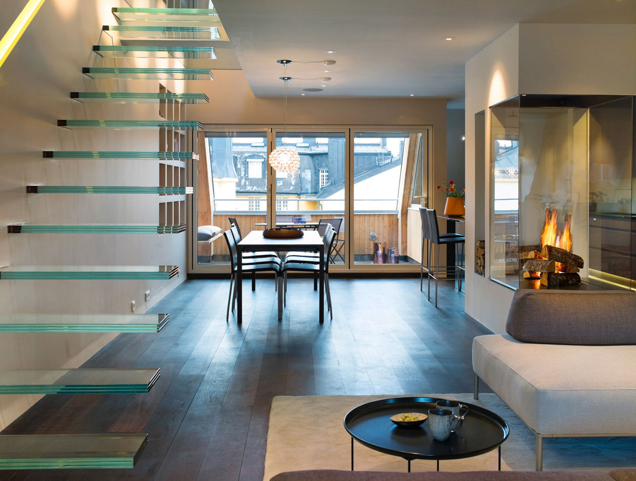 Modern Penthouse : Elegant Modern Penthouse With Glass Theme  iDesignArch  Interior ...