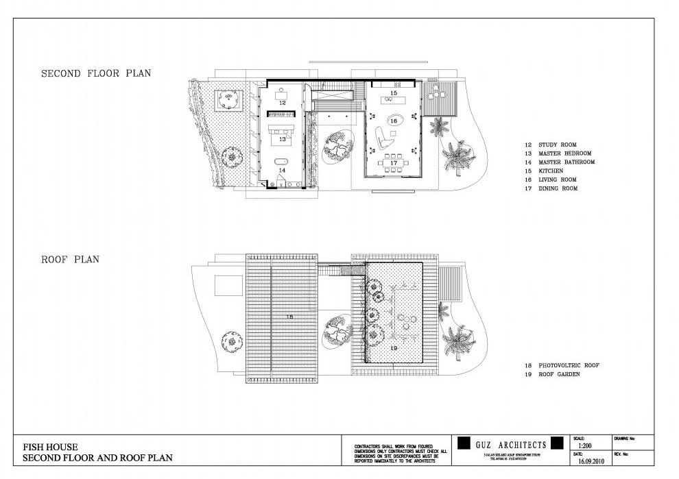 Environmentally friendly modern tropical house in for Fish house floor plans