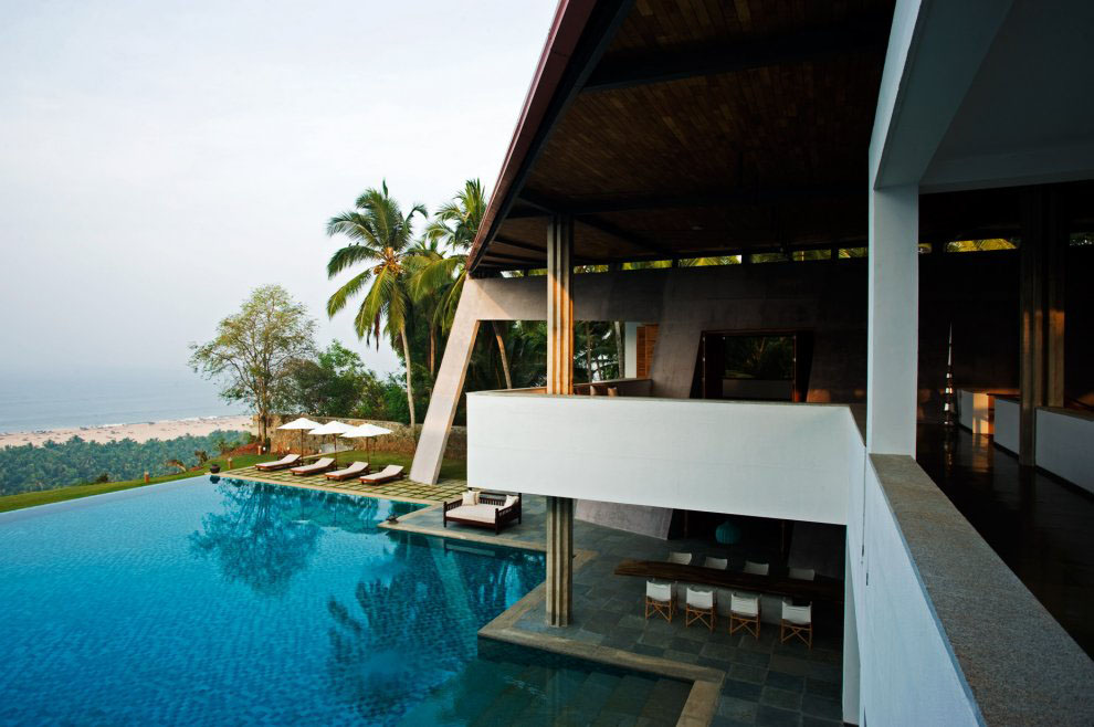 the cliff house in south india with view of the arabian sea
