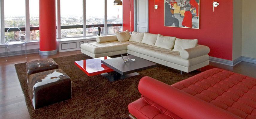Red Living Room Design Ideas  iDesignArch  Interior  ~ 021729_Living Room Ideas Red