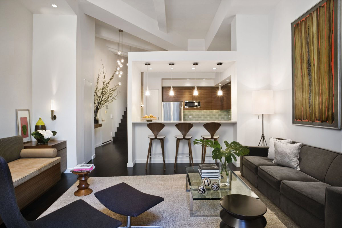 Modern loft apartment interior design in new york city gethomy