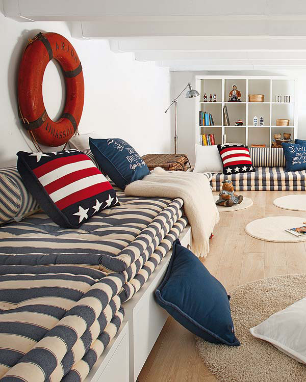 Nautical inspired bedroom for boys idesignarch for Bedroom ideas nautical