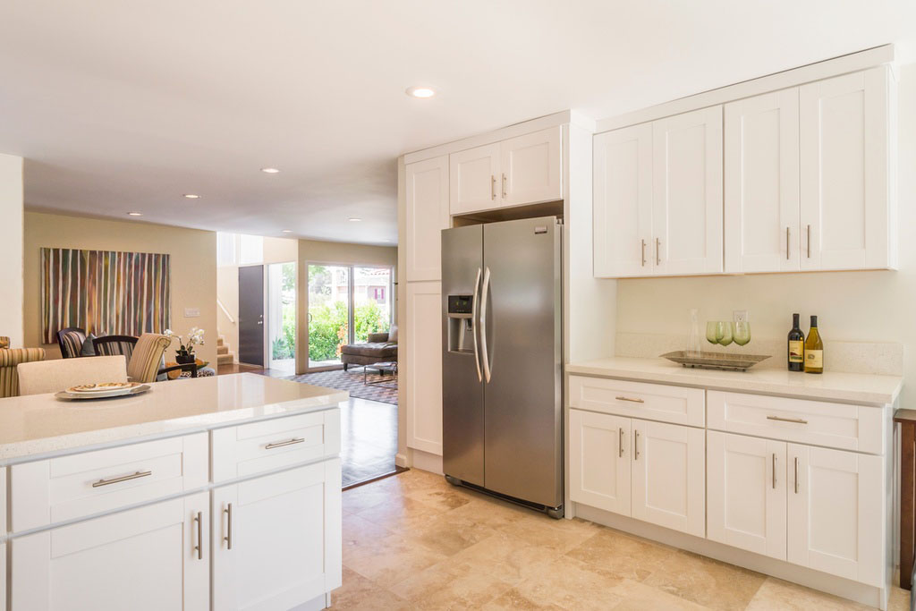 Newly renovated contemporary small kitchen with clean look for Renovated kitchens